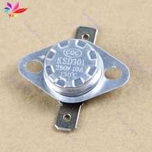 Temperature Controlled Switch KSD301 130 c Normal Close NC Thermostat 250V 10A-OZ(China)