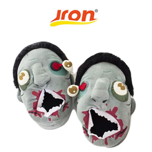Buy Funny Zombie Slippers Winter Warm Indoor Floor House&Home Women Men Walking Dead 3D Shoes Fit Halloween Cosplay pantufa for $14.35 in AliExpress store