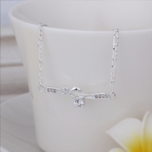 New Arrival!!Wholesale 925 Sterling Silver Anklets,925 Silver Fashion Jewelry,Winding Double Zircon Anklets SMTA026