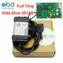 Full Chip For Volvo Vida Dice Car Diagnostic Tool Software 2014D OBD2 Scanner For Volvo With Firmware Update Self Test Function(China)