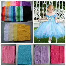 Wholesale 12 Inch tube top tutu top kids girl crochet pettiskirt crochet headbands Free Shipping Free Shipping 10pcs/lot