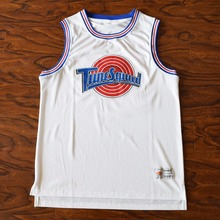 MM MASMIG [Tipo 17] Bugs 1 Lola 10 Murray 22 Jordan 23 Space Jam Tune Squad Baloncesto Jersey Cosido Blanco(China)