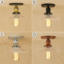 Edison Retro Aisle Crystal Glass Ceiling Lights Dia 30cm E27 Corridor/ Entrance Glass Lighting Fixtures Crystal Ceiling Lamps(China)