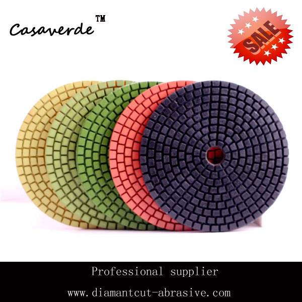 DC-9SCPP02 art of living sale Wet 4(100mm) with 2.5mm  flexible  wet angle grinder polishing pads for Granite and Marble<br><br>Aliexpress