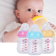 150ml Baby Feeding Bottles BPA Free Safe Infant Milk Juice Water Feeder Baby Training Cup with Scale Anti-hot Design