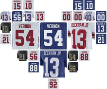 new york ny giants odell beckham jr jersey eli manning lawrence taylor youth Evan Engram limited elite game custom american 4xl(China)