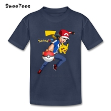 Pokemon T Shirt Kids 100% Cotton Baby Infant Short Sleeve Crew Neck Tshirt Children Tee-shirt 2017 Fashion T-shirt For Boys Girl(China)