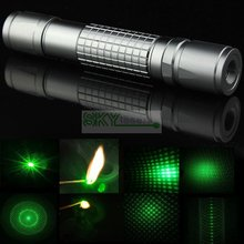 Burn match 5 in 1 Kaleidoscope Powerful Focusable Green Laser Pointer Flashlight With Battery & Charger Free Shipping(China)