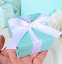 30pcs/lot Blue Candy Box Wedding Favor Boxes Blue Theme Wedding Favors and Gifts Romantic Wedding Decorations(China)
