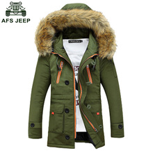 Free Shipping 2017 Winter Brand Men Jacket Fur Hood With Cashmere  Winter Jacket High Quality Fashion Men's Coat 110hfx