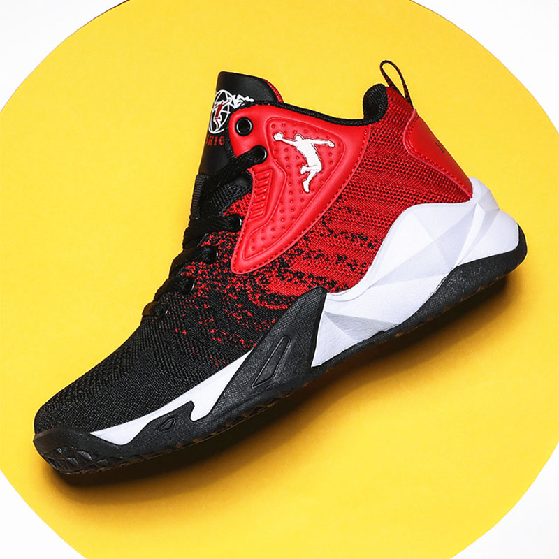 Cushioning-Light Basketball-Shoes Training-Sneakers Jordan High-Top Outdoor Breathable title=