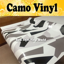 Arctic Dazzle Camo Vinyl Wrap Arctic Snow Camouflage Vinyl Film Air Drain For Vehicle Wraps Size:1.50*30m/Roll