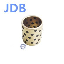 Buy JDB 101408 oilless impregnated graphite brass bushing straight copper type, solid self lubricant Embedded bronze Bearing bush