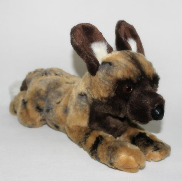 ChildrenS Toys Pillow Gifts Plush Doll Toy Simulation Animals African Wild Dogs Lying Posture<br>