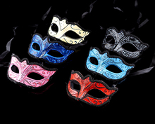 (12 pieces/lot) New handmade paper pulp with lace 6 colors available elegant Venetian masquerade ball masks(China)