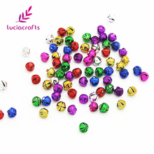 Lucia Crafts 8mm Mix Jingle Bell Pendants Hanging For Christmas Tree Ornaments DIY Party Decoration (48pcs/lot) 18020806(8A48)(China)