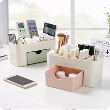 1Pc European candy color plastic makeup organizer storage box multipurpose office sundries cosmetic drawer container