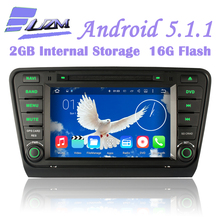 "Quad Core 8"" Android 5.1.1 Bluetooth 3G Wifi GPS Car DVD Player RDS Radio Tape Recorder For VW Skoda Octavia III 2014 2015 A7"