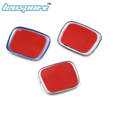 Leosport-Fit for Honda steering wheel badge car emblem red emblem Car styling for honda civic fit jazz Color Red Black Blue