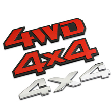 New Car Metal Chrome 4WD 4X4 Displacement Emblem Badge All Wheel Drive Auto 3D Sticker Decal Styling Free shipping