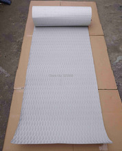 Free Shipping Gray Color Diamond Pattern EVA 3M Glue Skidproof Top Pad Deck Sup Board Deck Pad Grip Pad