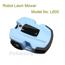 L600 Robot Mower for Garden with 2 independent  4Ah Lithium battery,  4 blades, wireless field mower robotic mower