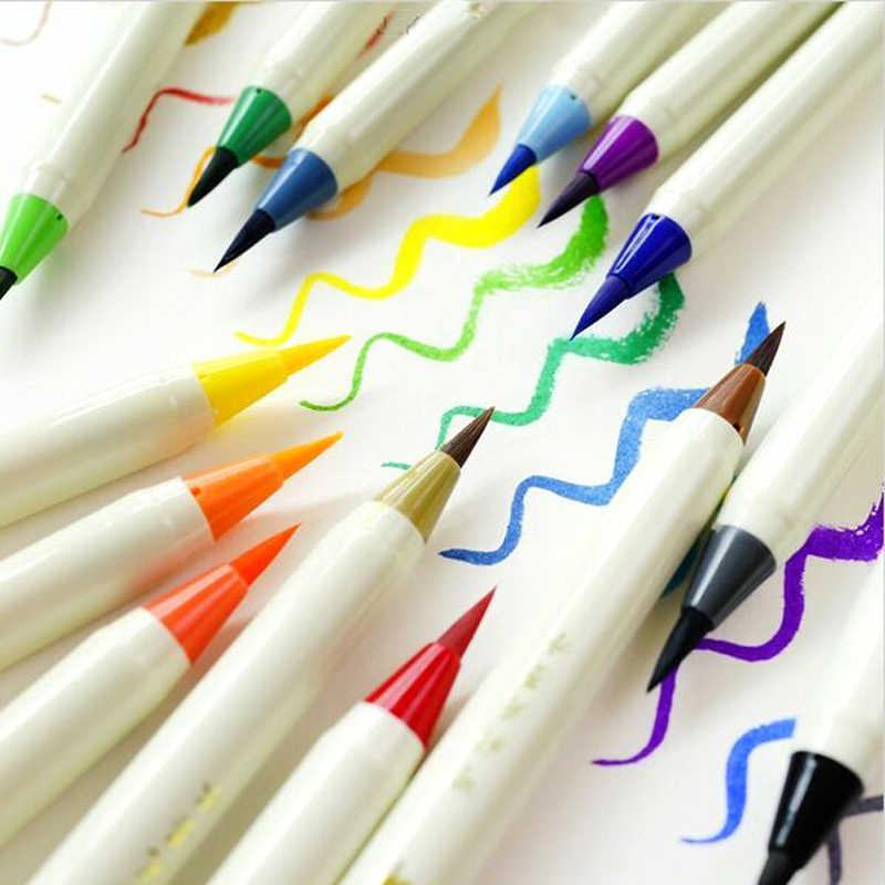 Platinum 12 colors pack coloring brush pen, comics / manga watercolor brush  pen, illustration /design color markers