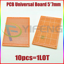 Electronic kit Circuit Breadboards 10pcs Blank PCB 5x7cm Breadboard Universal DIY Phototype Board Single Side(China)