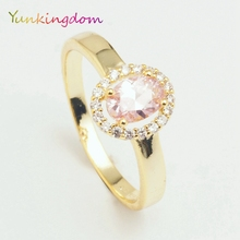 Yunkingdom Delicate oval design small rings female gold color fashion jewelry