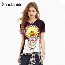 Cartoon Digital Printed T Shirt Women Short Sleeve Workout Tee Shirts Casual Summer Punk Tops Adventure Time Couple Clothes Ropa