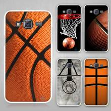 Basketball dark Hard White Plastic Case Cover for Samsung Galaxy J1 J2 J3 J5 J7 C5 C7 E5 E7 2016 2017 Emerge