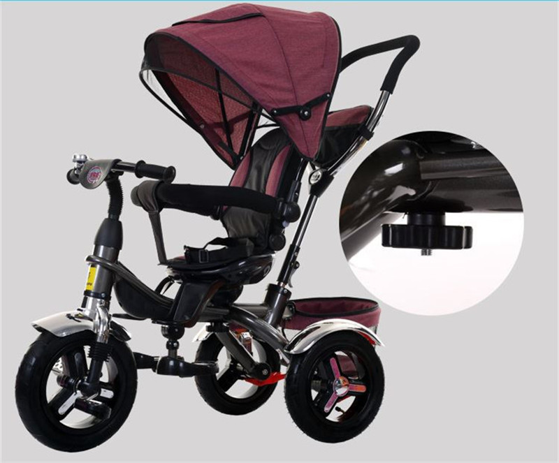 2017 kids Tricycle Pram 3 wheel Baby Stroller Child Three Wheels Carriage Baby Buggy Bike Bicycle For 6 Month to 6 Years Old7