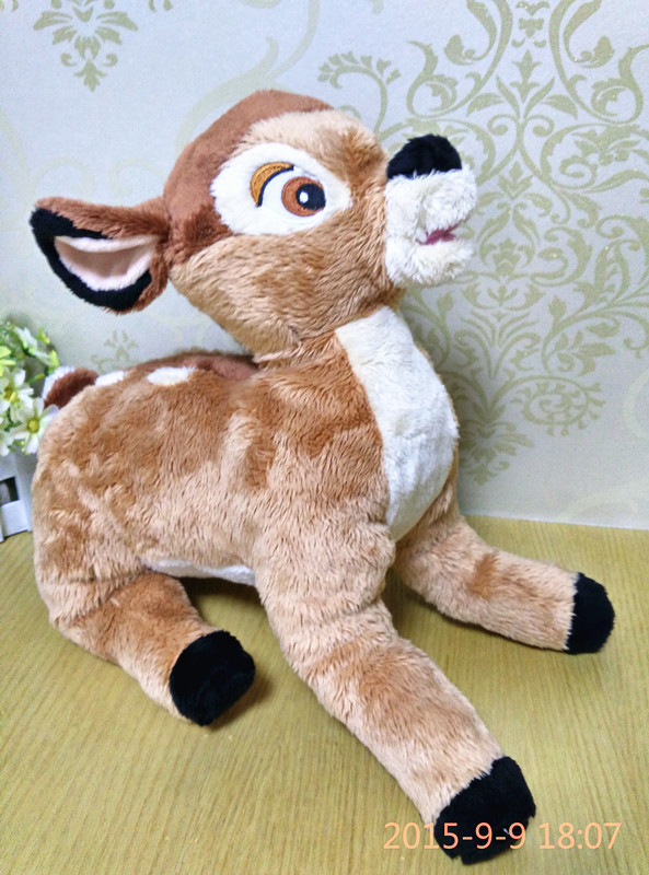 New Arrival Rare Big Original 38cm Bambi Deer Animal Cute Soft Stuffed Plush Toy Doll Birthday Gift Children Gift Collection<br><br>Aliexpress