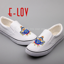 E-LOV Royal Standard Napoleon France Canvas Shoes Custom Printed Francais National Emblem French Flags Casual Shoe(China)