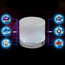 Portable Mini Wireless Bluetooth Speaker A9 Smart LED Light Crack Stereo Speaker Support TF Card USB Flash Drive FM(China)