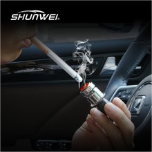 Universal Personal Auto Car Vehicle Cigarette Lighter Plated Auto Car Power Plug Socket Smoke Ceramic Heater DC12V