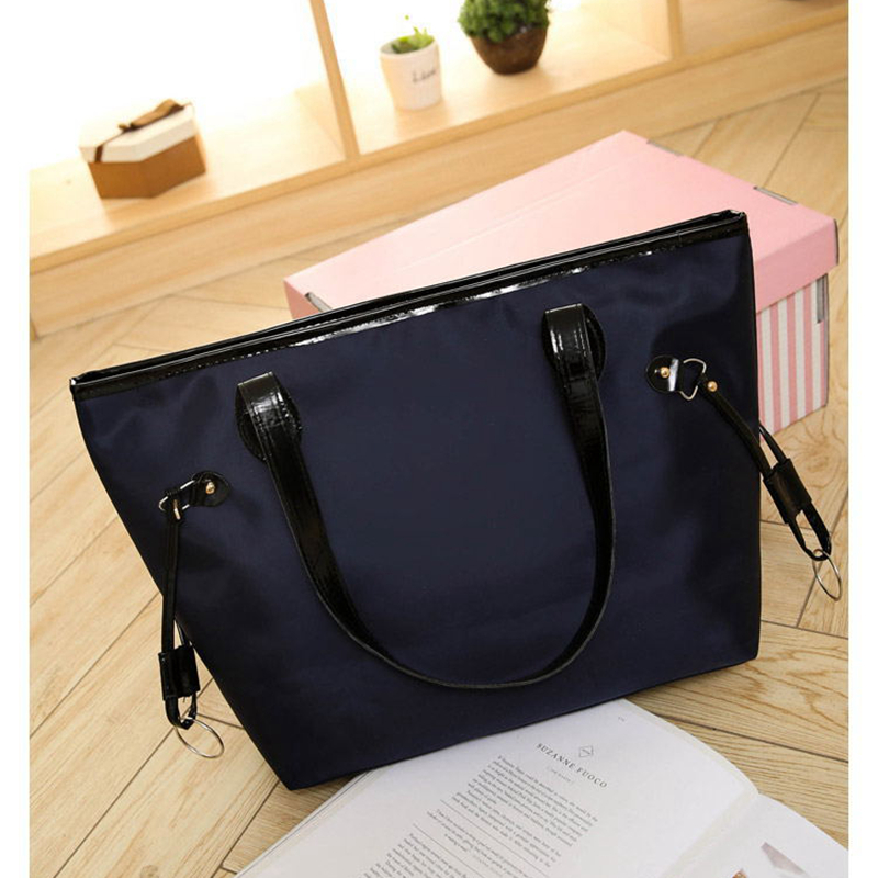 2017 New Fashion Casual Big Oxford Bag Shopping Bags Women Tote Solid Handbag Bag Ladies Shoulder Bag Female Sac a Main<br><br>Aliexpress