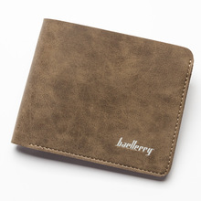 Baellerry Men Wallet Simple Retro Style Short Section Soft Pu Leisure Casual 2 Folds Id Credit Card Holder Purse Wallet Carteira(China)