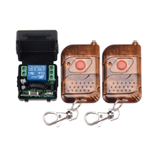 Free shipping Wholesale DC 12v 10A relay 1CH wireless RF Remote Control Switch Transmitter Receiver