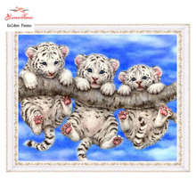 DIY 5D diamond embroidery animals,3D diamond painting,Diamonds mosaic,Litter cut  tiger picture of rhinestones cross stitch sets