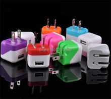 Portable Mini USB US Plug Folding Wall Charger Travel AC Home Charger Adapter For iPhone Samsung Blackberry Zopo Huawei(China)