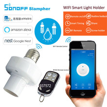 Buy Itead Sonoff Slampher E27 WiFi light Bulbs Holder 433MHz RF Wireless Light Holder Smart Home Remote Control IOS Android for $12.76 in AliExpress store