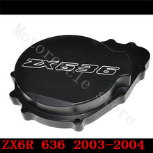 Fir for Kawasaki ZX6R ZX-6R ZX636 636 2003 2004 Motorcycle Engine Stator cover Black left side(China)