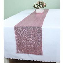 12 x 96 Inch Pink Glitter Table Runners Wedding Event Party Banquet Glitzy Table Decoration