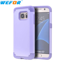 Cell Phone Cases Cover For Samsung Galaxy S7 Cover Slim Hybrid Dual Layer Shockproof Silicone Case Cover for Samsung Galaxy S7(China)