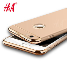 H&A Luxury Ultra Slim Case for iPhone 6 6s Plus cover Shockproof Armor Hard PC Mobile 3 in1 Cases For iPhone 7 7 Plus cover