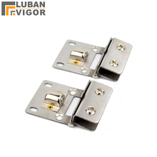 Stainless steel galss clips, bar glass door/cabinets/showcase single hinge,hardware Suitable for glass thickness 5-8mm.