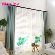 Brand New Leaves Pastoral Living Room window curtains curtains for Bedding room corina Kids Room decoration