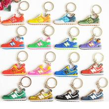 Cute Mini Silicone New Balanceer 574 Keychain Bag Charm Woman Men Kids Key Ring Gifts Sneaker Key Holder Jordan Shoes Key Chain