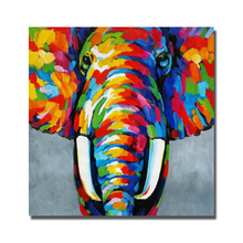 Colorful Oil Paintings on Sale Elephant Design Painting for Living Room Decor No Framed and With Framed Cheap Modern Animal(China)